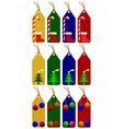 Christmas tags vector