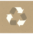 Recycled sign on reuse paper texture vector