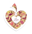 Valentines day card with heart vector