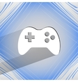 Gaming joystick flat modern web design on a flat vector