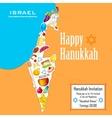 Hanukkah background vector