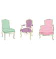 Antique rococo chairs vector