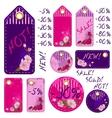 Spring sale tags with beautiful sakura flowers vector