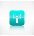 Wireless web icon application button vector
