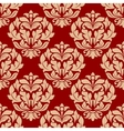 Retro beige floral seamless pattern vector