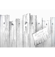 Watercolor wooden fence vector