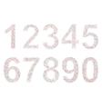 Varicolored numbers vector
