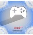 Gaming joystick flat modern web design on a flat vector