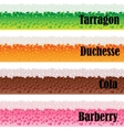 Borders of carbonated beverages set vector