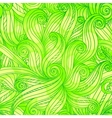 Green doodle abstract seamless pattern vector