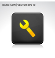 Settings key icon gold vector