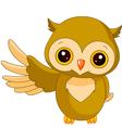 Fun zoo owl vector