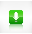 Microphone icon application button vector