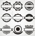 Vintage badge labels template vector