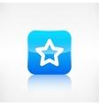 Star favorite sign web icon application button vector