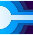 Abstract blue paper circles vector