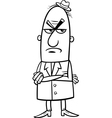 Angry man cartoon coloring page vector