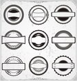 Classic badge templates vector