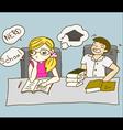 Girl accidentally reading vector