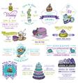 Wedding vintage invitation collection - dessert an vector