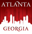 Atlanta georgia city skyline silhouette vector