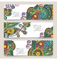 Set of decorative flower template banner vector