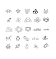 Sketches for logos or icons vector