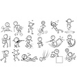 Doodle design of people engaging in different vector