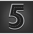 Five number road font vector