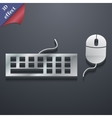 Computer keyboard and mouse icon symbol 3d style vector