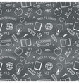 Back to school chalkboard pattern vector