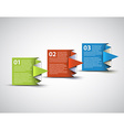 One two three - paper options vector