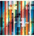 Striped puzzles vector