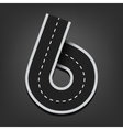 Six number road font vector