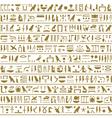Ancient egyptian hieroglyphs seamless horizontal vector