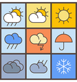 Weather symbols vector