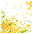 Summer flower card vector