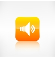 Speaker volume icon application button vector