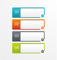 Paper tags labels banners in the pockets - one two vector