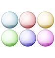 Coloured icon balls vector