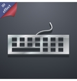 Computer keyboard icon symbol 3d style trendy vector