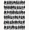 Business people outlines vector