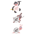International sign email animals color vector