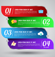 Banner options number vector