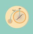 Retro bicycle icon symbol of transport icon of a vector