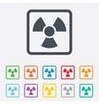 Radiation sign icon danger symbol vector