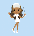 Cartoon nurse character vector
