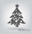 Christmas tree icon isolated black on white vector