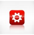 Settings icon gear symbol application button vector