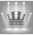 Silhouette of crown vector